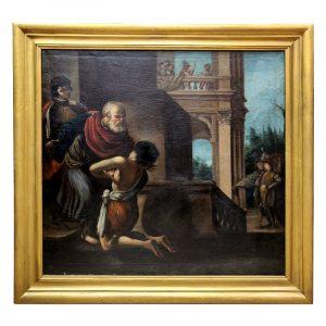 Hst XVIIe l enfant prodigue d apres Le Guercin