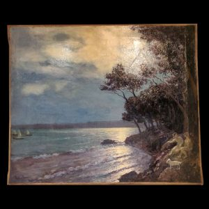 Huile sur toile bord de mer Chabanian