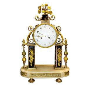 Pendule portique XVIIIe Epoque Louis XVI
