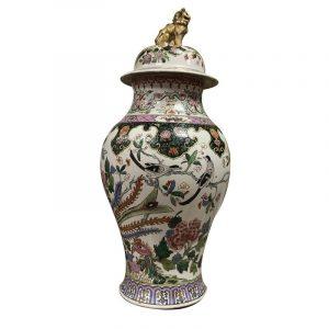 Pot couvert en porcelaine de Chine