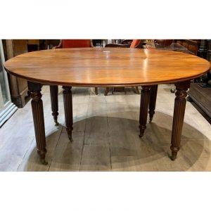 Table 6 pieds acajou + 1 allonge