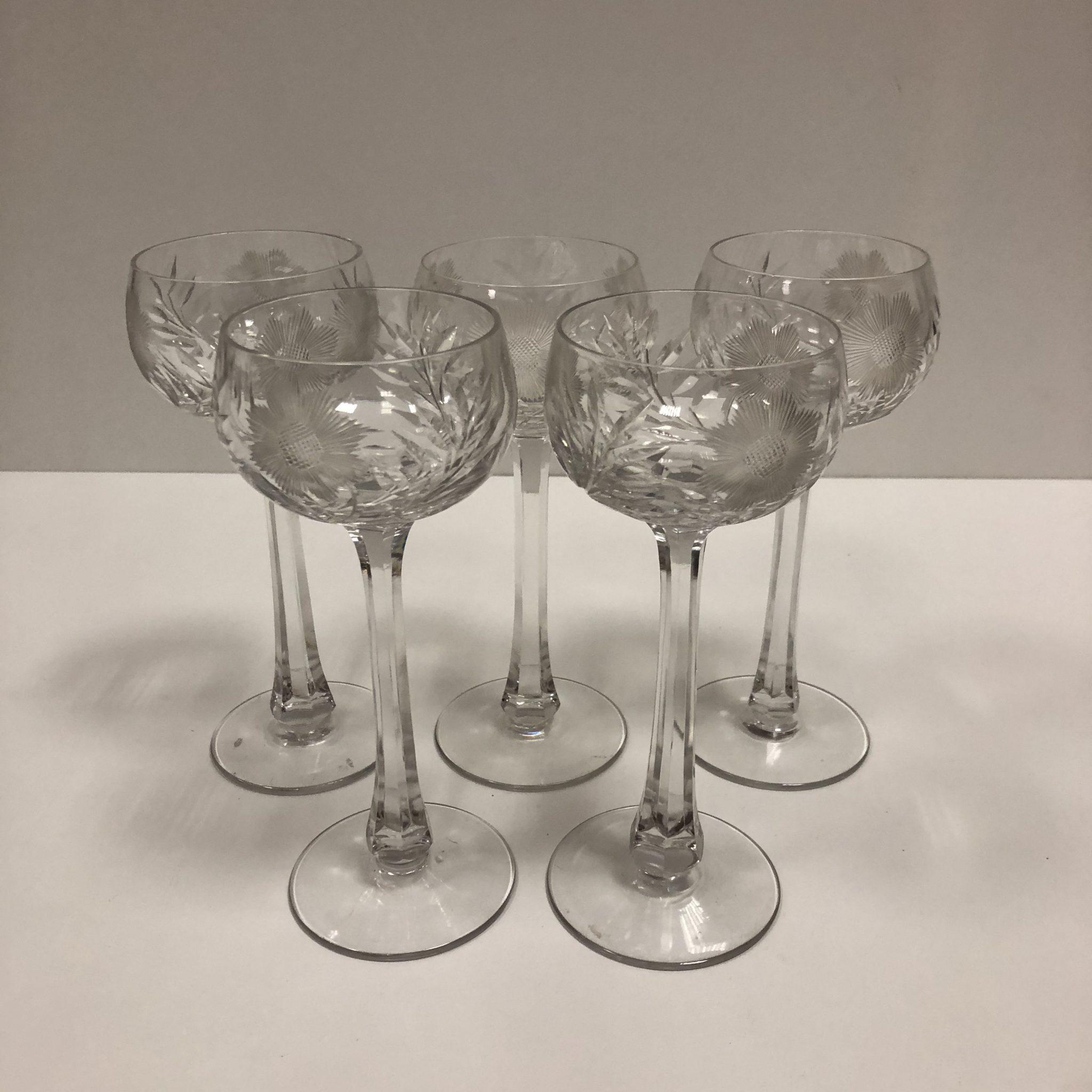 Verres à vin blanc Cristal