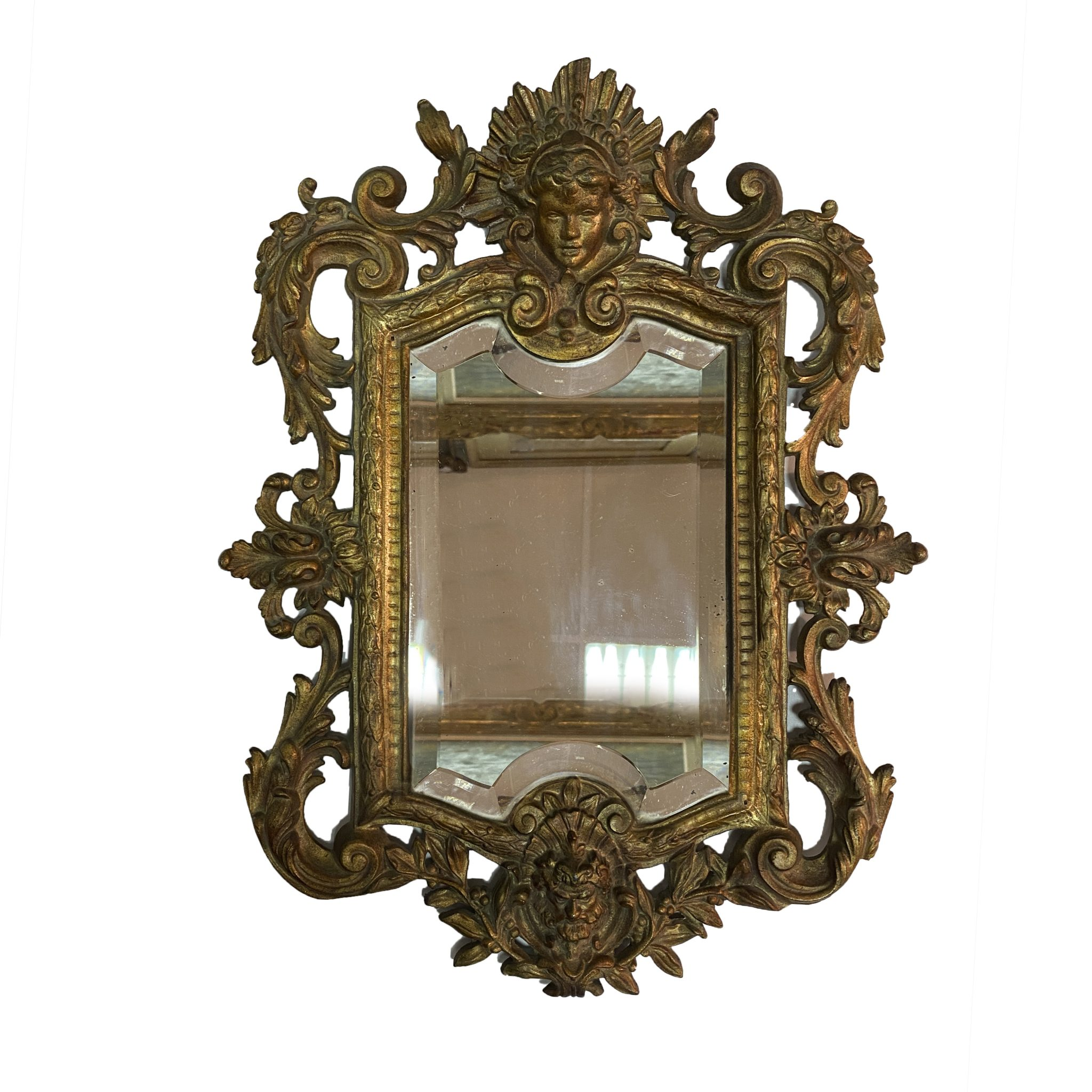 Miroir en bronze doré Régence