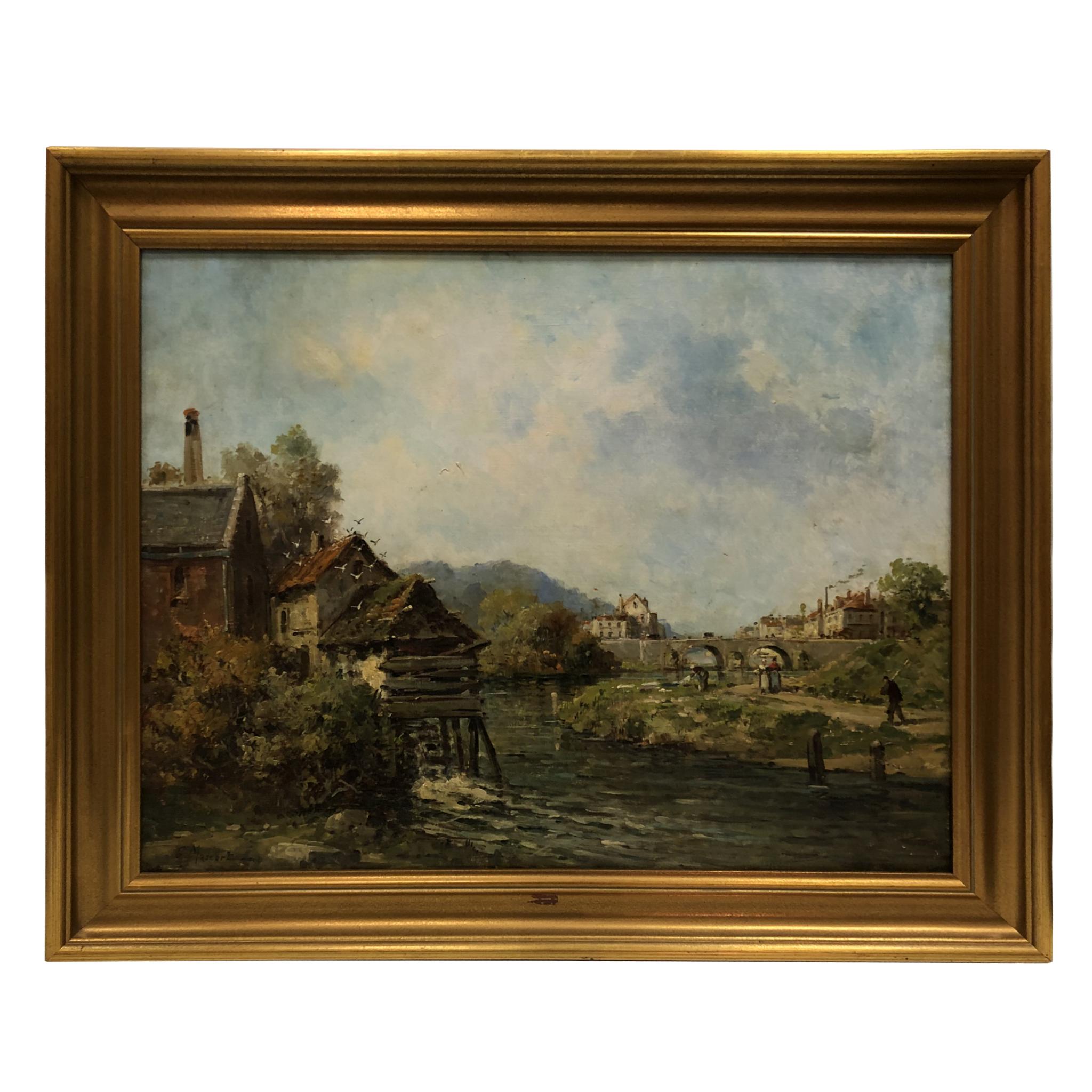 Huile sur toile Gustave Mascart
