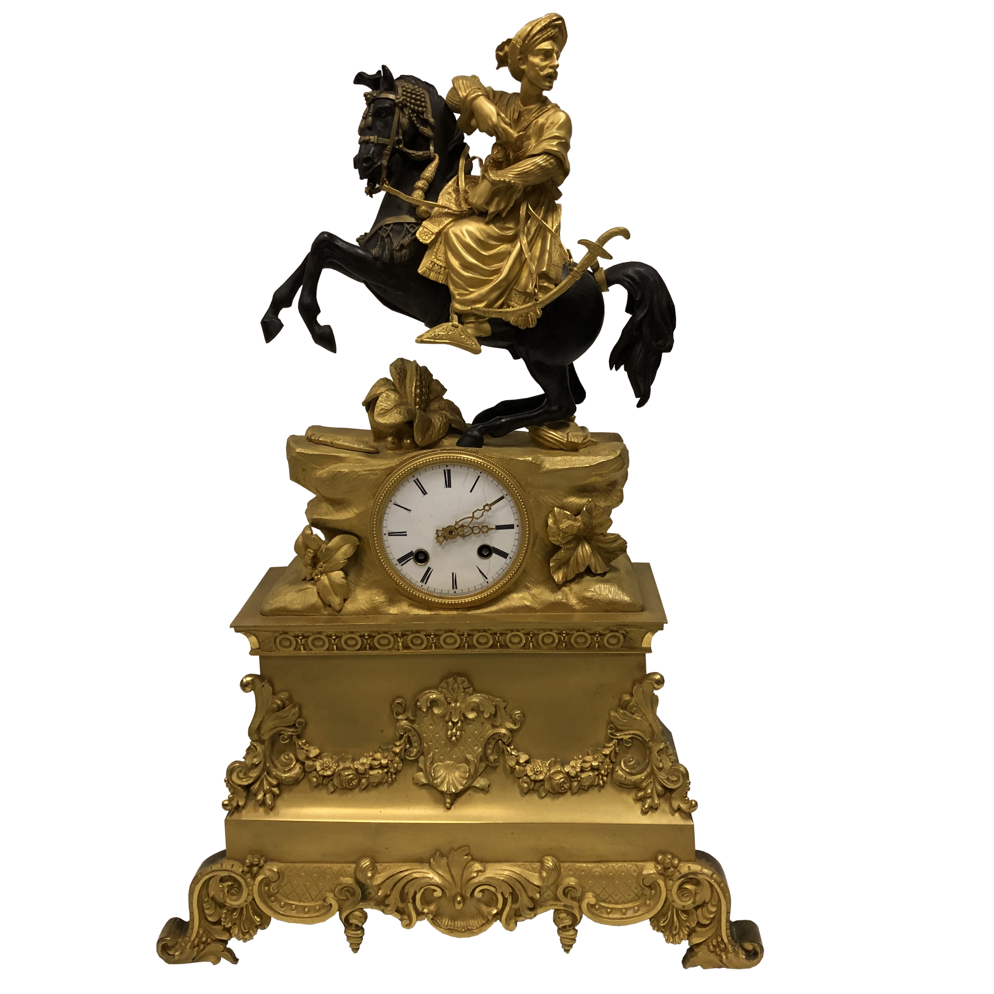 Pendule Charles X bronze