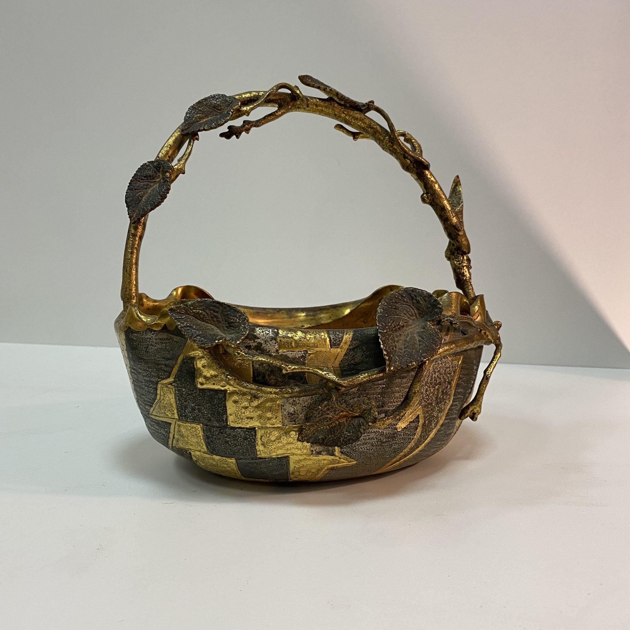 Coupe cuivre forme de panier