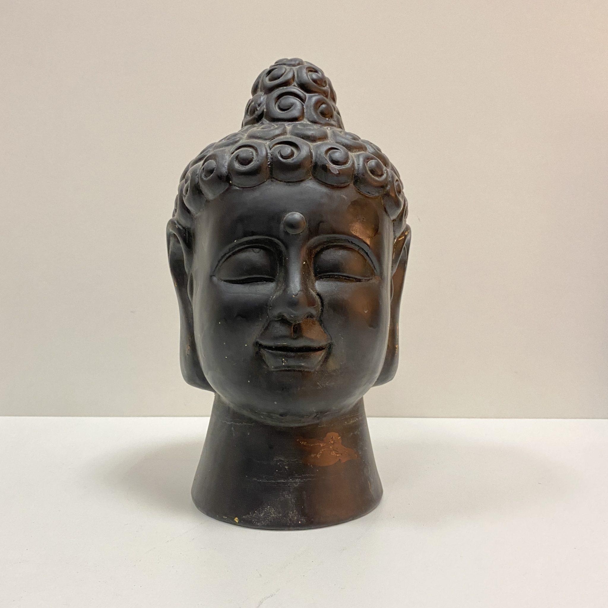 Tête de Bouddha plâtre