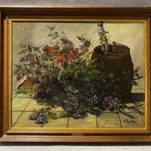 Huile sur toile, Nature morte, Le Printemps, 1934, Clozier