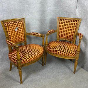 Paire de fauteuils de Style Directoire