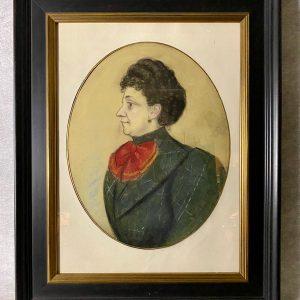 Pastel, Portrait de femme, signé Hyppolythe Mailly