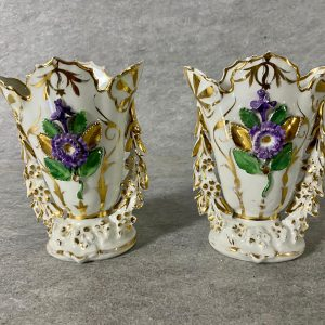 Paire de vases porcelaine de Paris