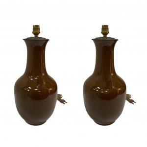 Paire de lampes céramique Chine
