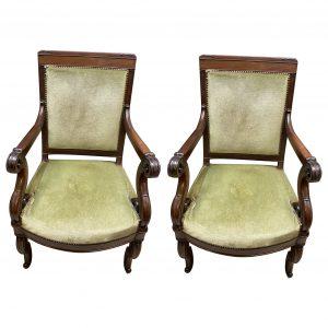 Paire de fauteuils Restauration XIXe