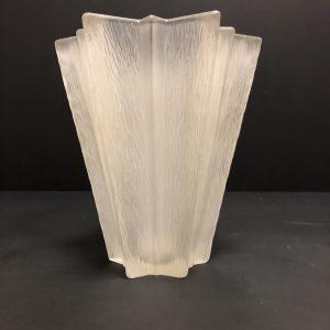 Vase cristal givré