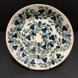 Plat céramique décor floral