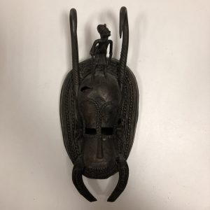 Petit masque Africain bronze