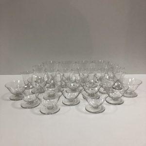 Service à verres Cristal d'Argental