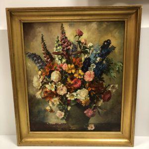 Pièce encadrée bouquet de fleurs