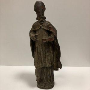 Bois sculpté Saint Augustin