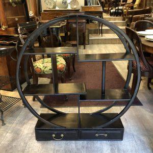 Étagère circulaire bois teinté