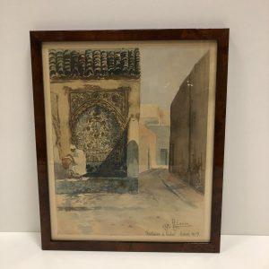 Scène orientaliste H. Camax