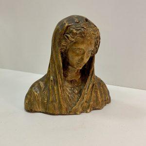 Plâtre buste de la vierge
