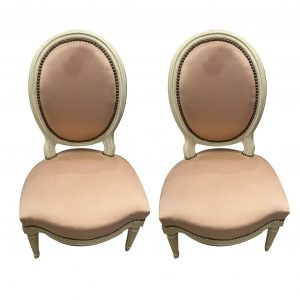 Paire de chaises style Louis XVI