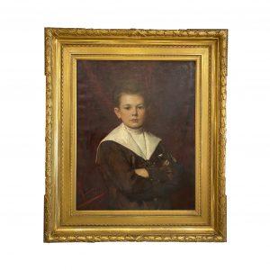 Léon Herbo Portrait d'un jeune garçon