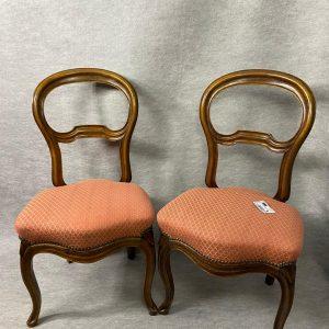3 chaises Louis Philippe, noyer