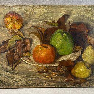 Huile sur toile, Nature morte aux fruits d'automne
