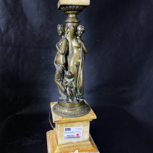 Bronze les Trois Graces XIXe, socle onyx J.PRADIER