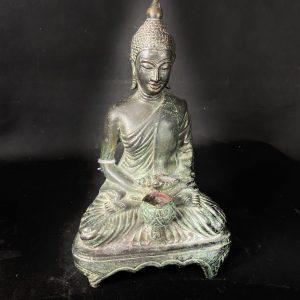 Bouddha en bronze assis
