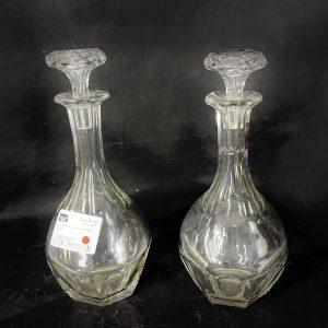 Paire de carafes Compiègne Cristal Baccarat
