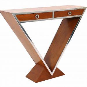 ixtac10-34-console-delta-deux-tiroirs-bois-verni-noyer-triangle