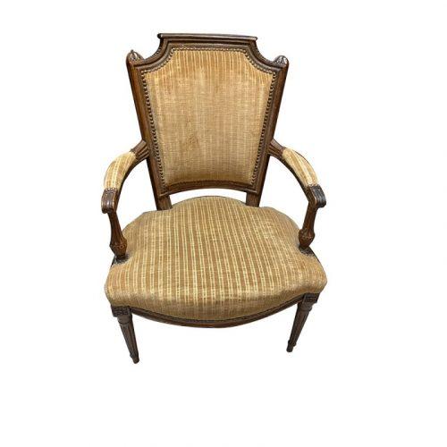 Suite de 4 fauteuils XVIIe epoque Louis XVI