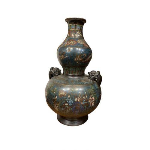 Vase cloisonné XIXe Chine H50